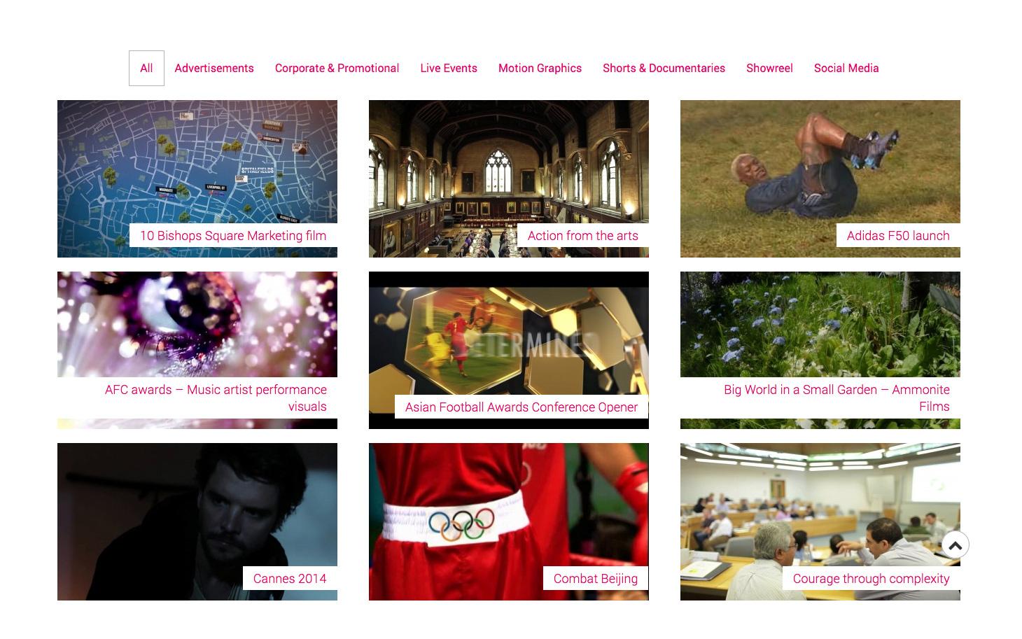 Pinky Productions portfolio